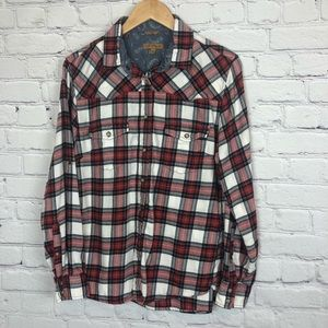 Jachs Girlfriend Top Bea Style Flannel Snap Button